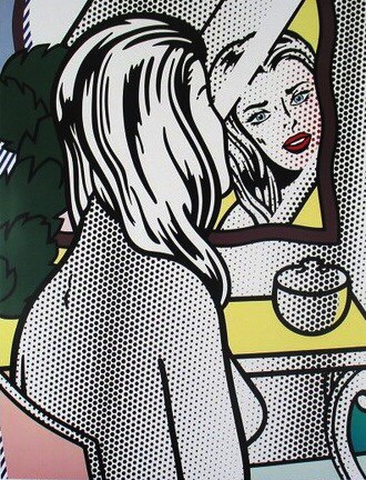 Roy Lichtenstein - Girl at the Mirror